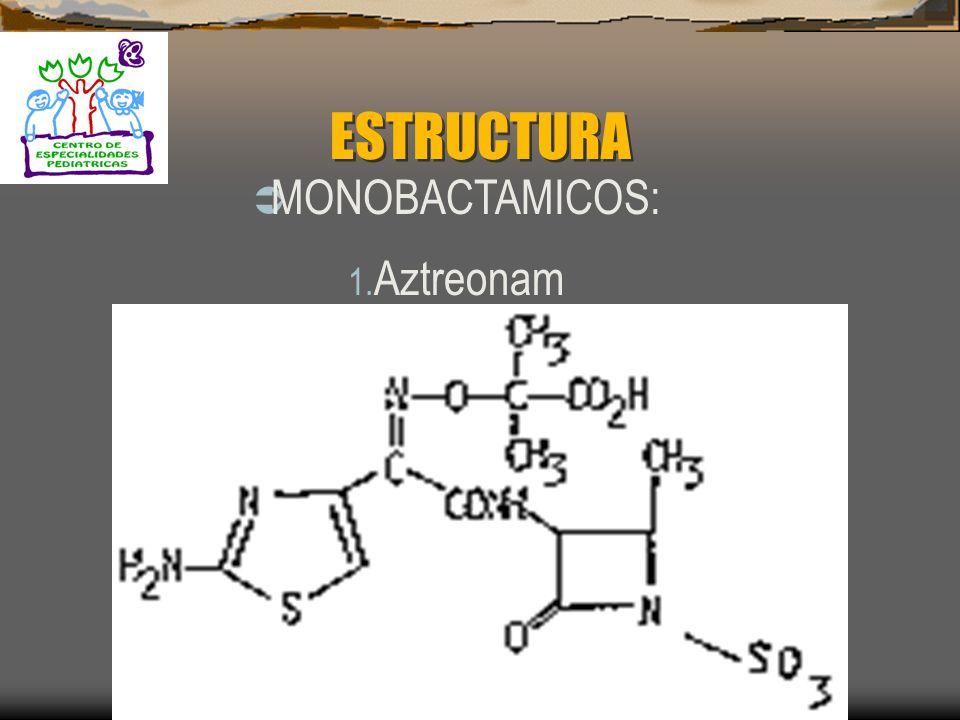ESTRUCTURA MONOBACTAMICOS: Aztreonam