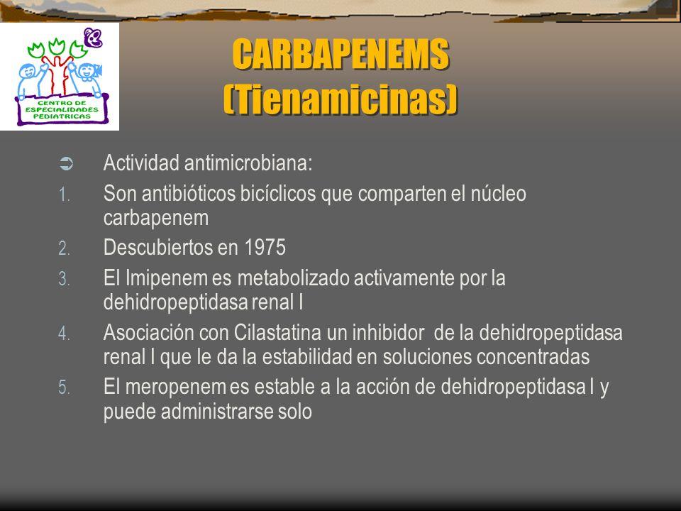 CARBAPENEMS (Tienamicinas)