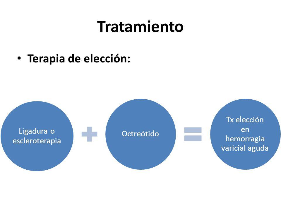 Tratamiento Terapia de elección: