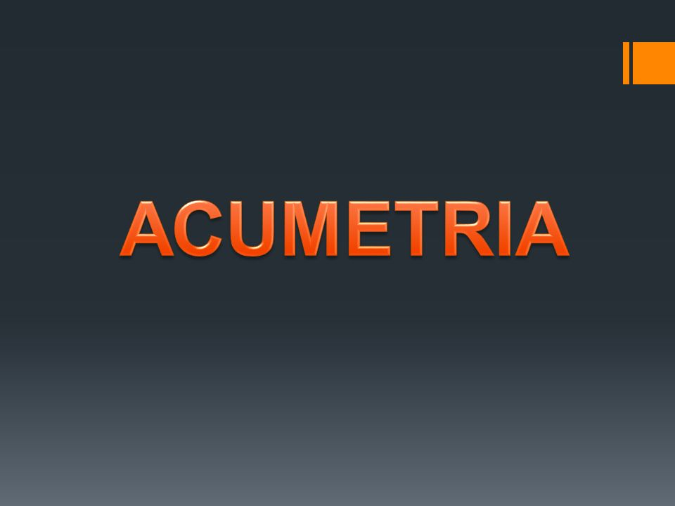 ACUMETRIA