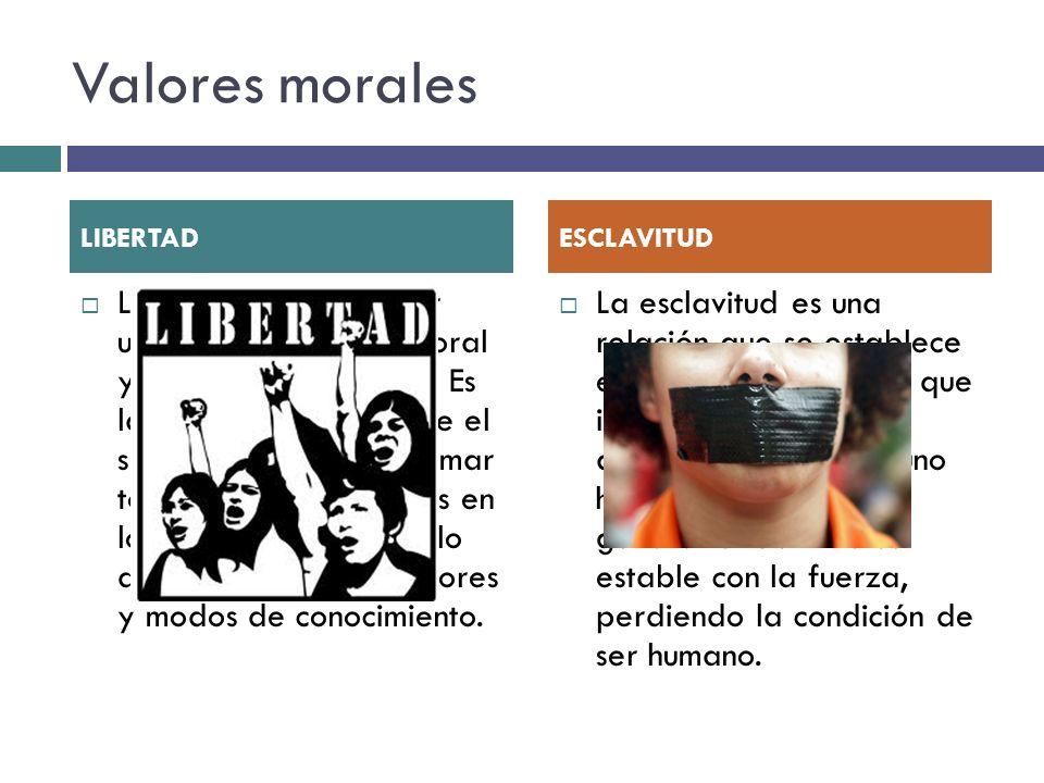 Valores morales LIBERTAD. ESCLAVITUD.