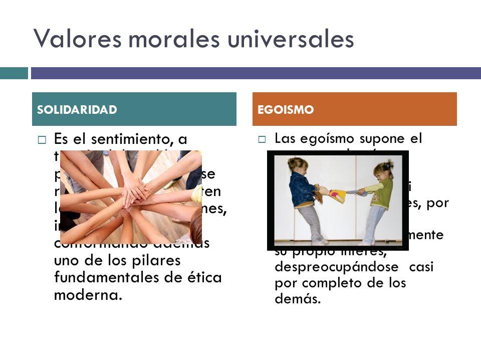 Valores morales universales