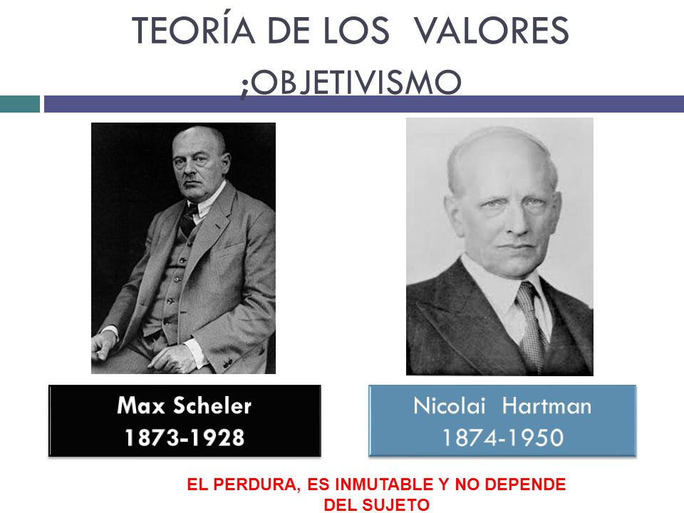 TEORÍA DE LOS VALORES ;OBJETIVISMO