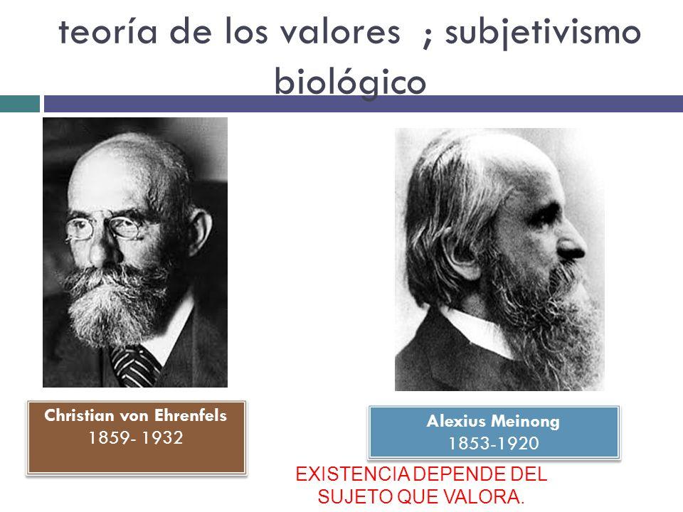 teoría de los valores ; subjetivismo biológico