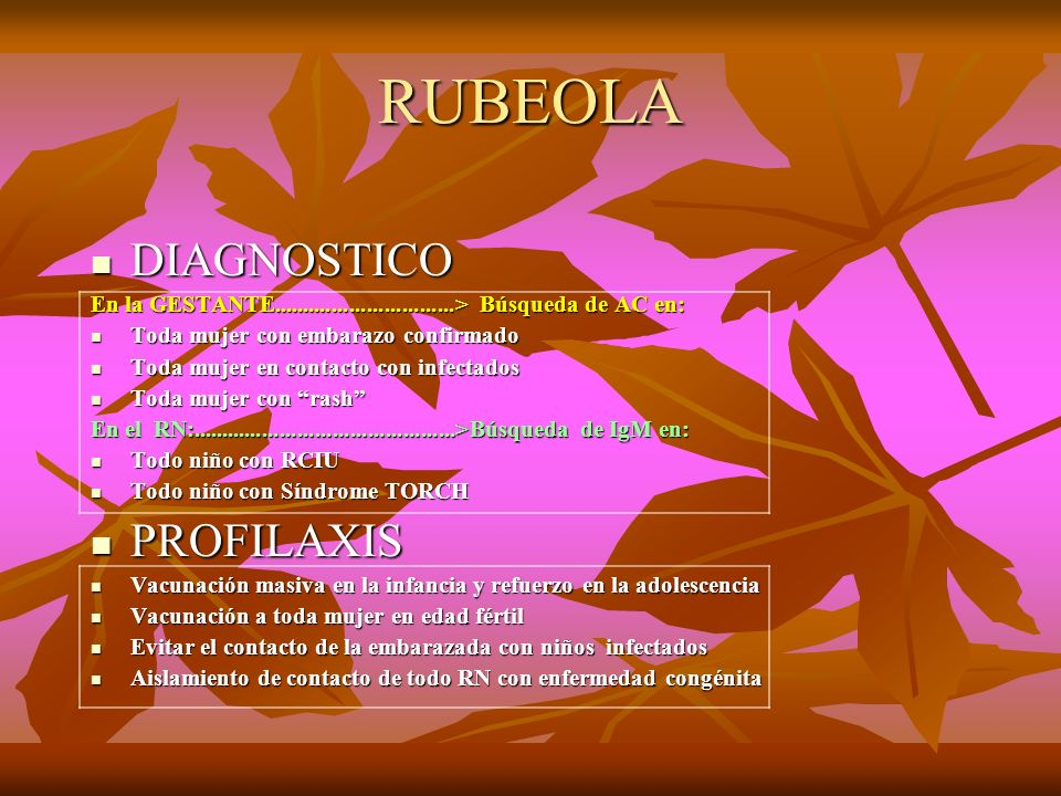 RUBEOLA DIAGNOSTICO PROFILAXIS