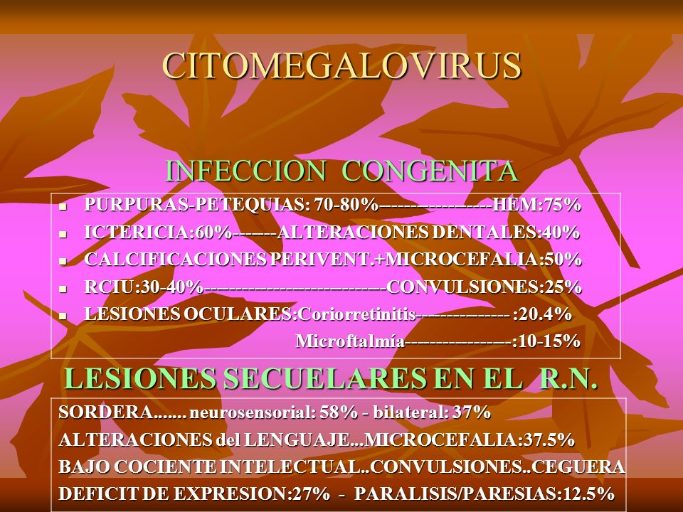 CITOMEGALOVIRUS INFECCION CONGENITA