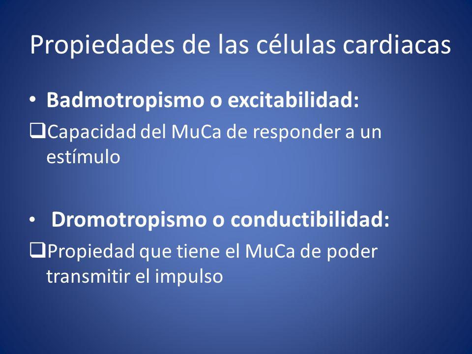 Propiedades de las células cardiacas