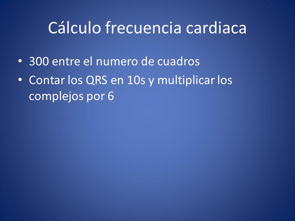 Cálculo frecuencia cardiaca