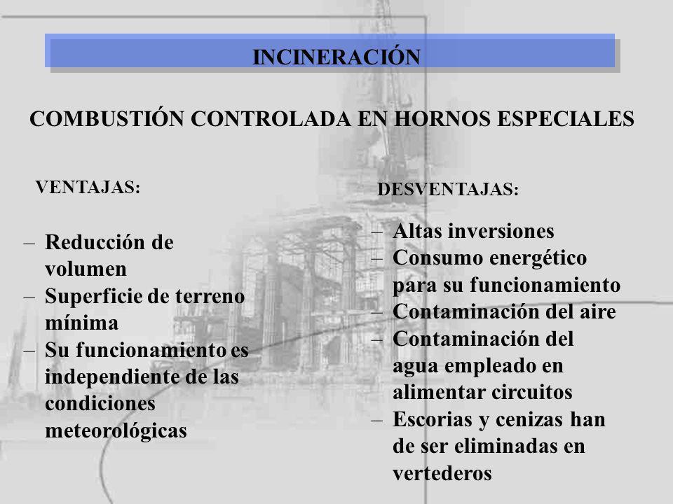 COMBUSTIÓN CONTROLADA EN HORNOS ESPECIALES