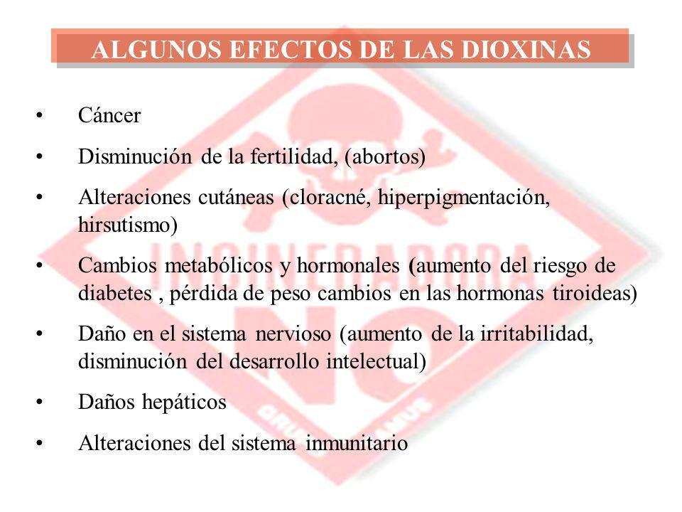 ALGUNOS EFECTOS DE LAS DIOXINAS