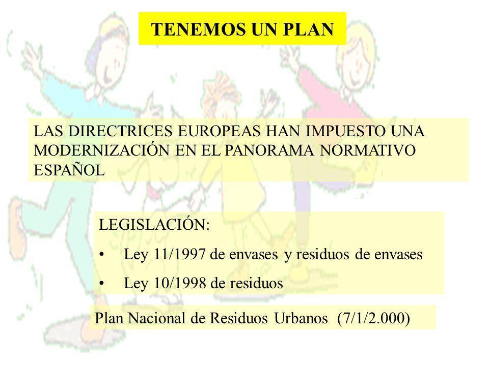 TENEMOS UN PLAN LAS DIRECTRICES EUROPEAS HAN IMPUESTO UNA MODERNIZACIÓN EN EL PANORAMA NORMATIVO ESPAÑOL.