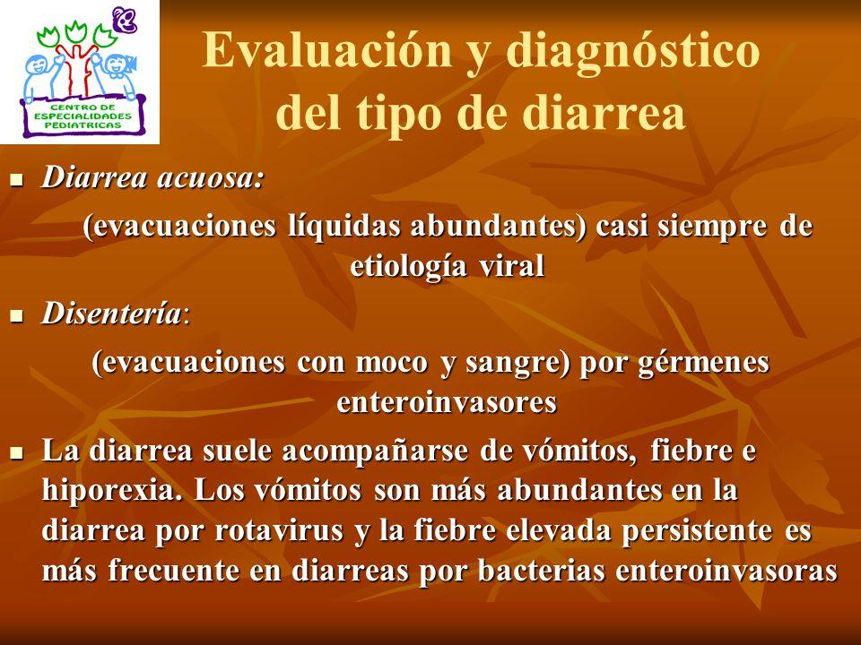 Evaluación y diagnóstico del tipo de diarrea