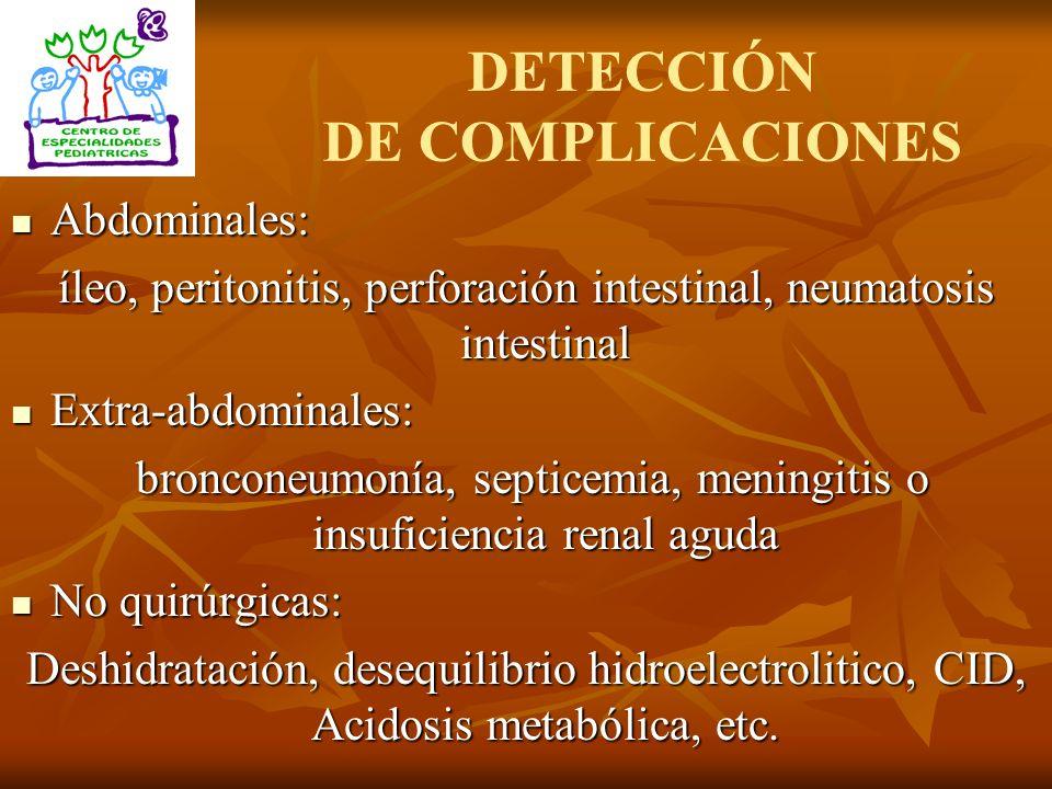 DETECCIÓN DE COMPLICACIONES