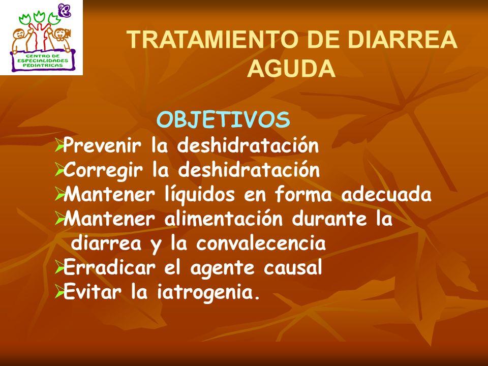 TRATAMIENTO DE DIARREA AGUDA