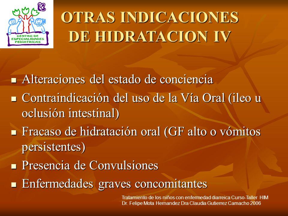 OTRAS INDICACIONES DE HIDRATACION IV