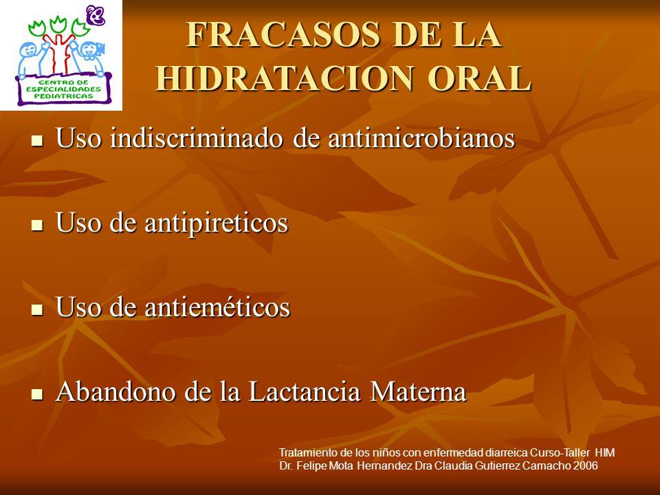 FRACASOS DE LA HIDRATACION ORAL