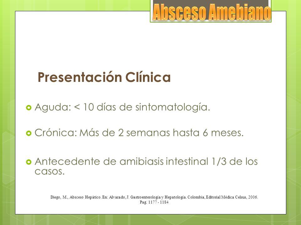 Absceso Amebiano Presentación Clínica