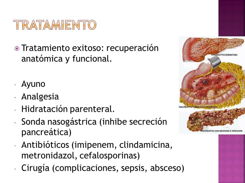 Tratamiento Tratamiento exitoso: recuperación anatómica y funcional.