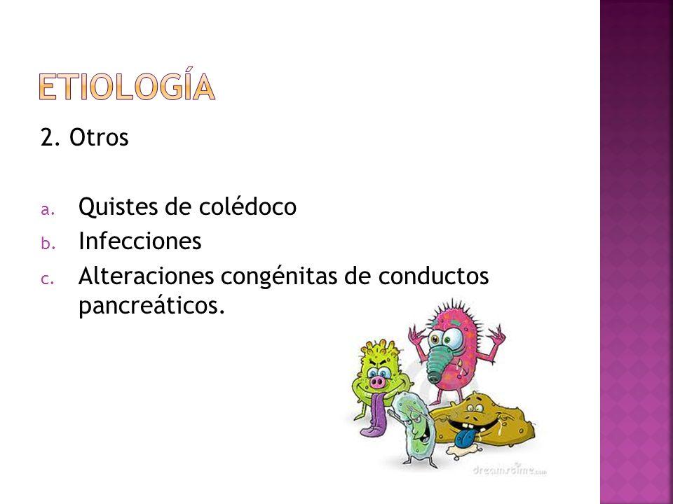 Etiología 2. Otros Quistes de colédoco Infecciones
