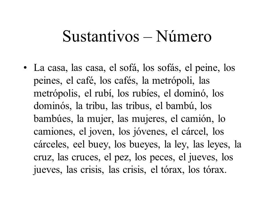 Sustantivos – Número
