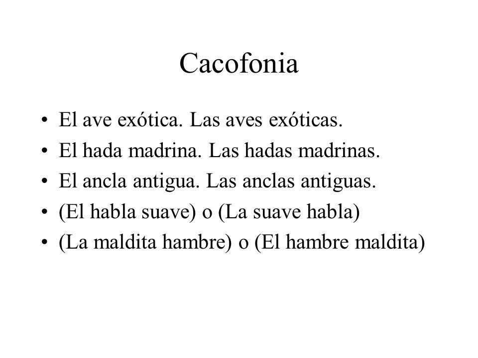 Cacofonia El ave exótica. Las aves exóticas.