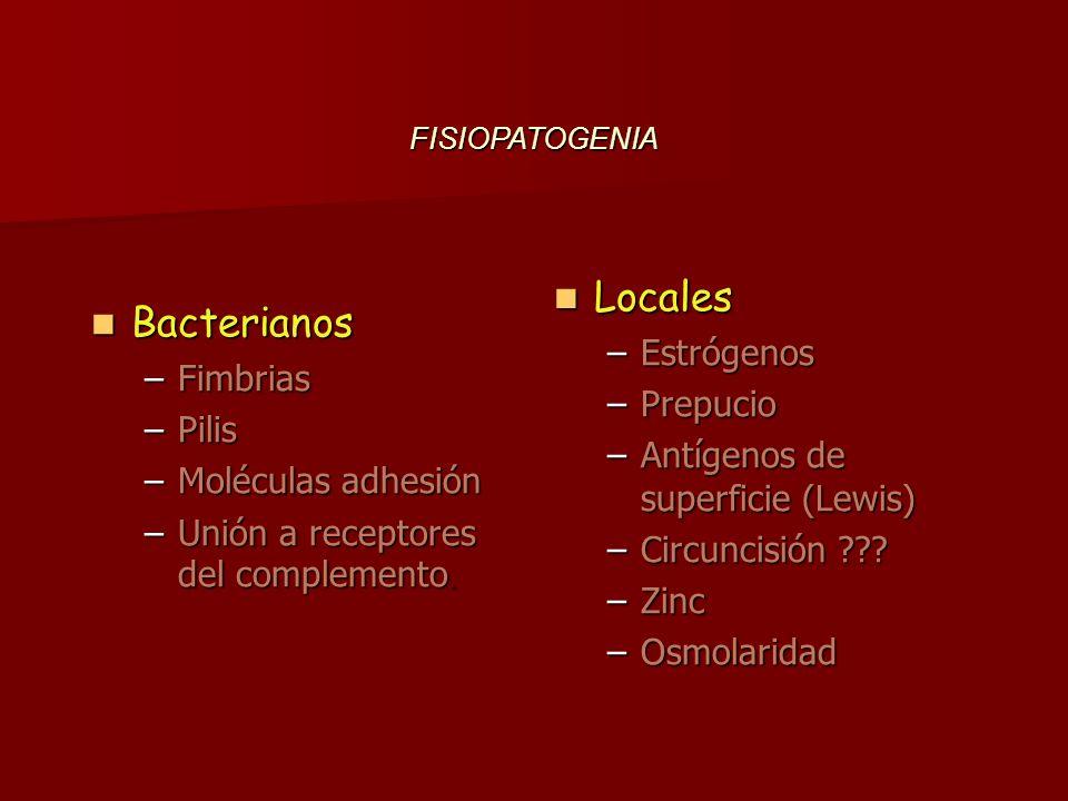 Locales Bacterianos Estrógenos Fimbrias Prepucio Pilis