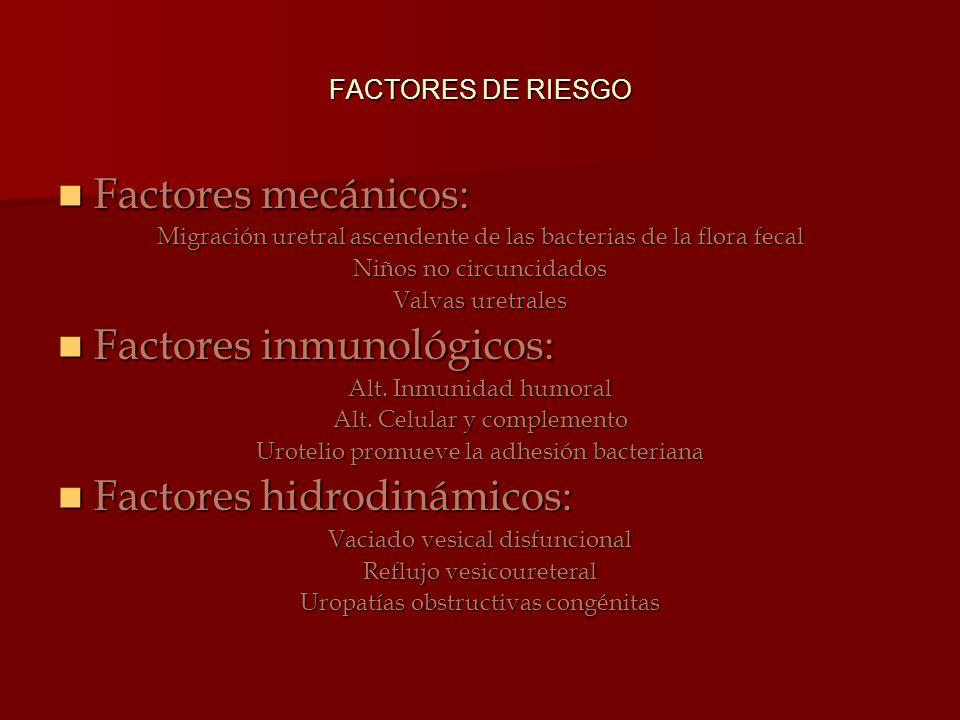 Factores inmunológicos:
