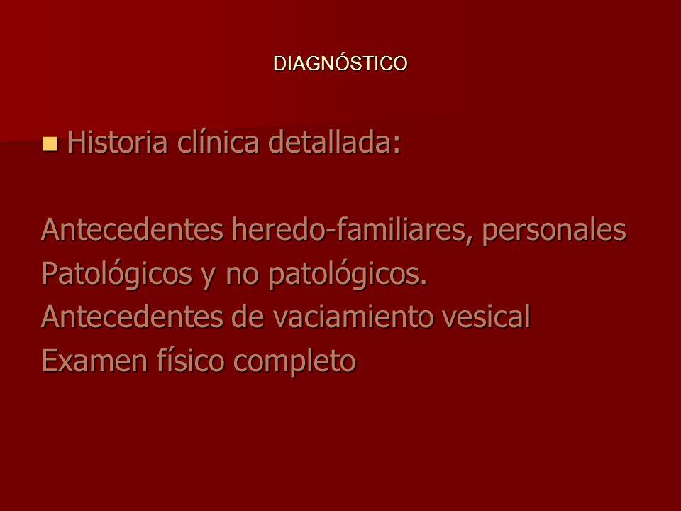 Historia clínica detallada: