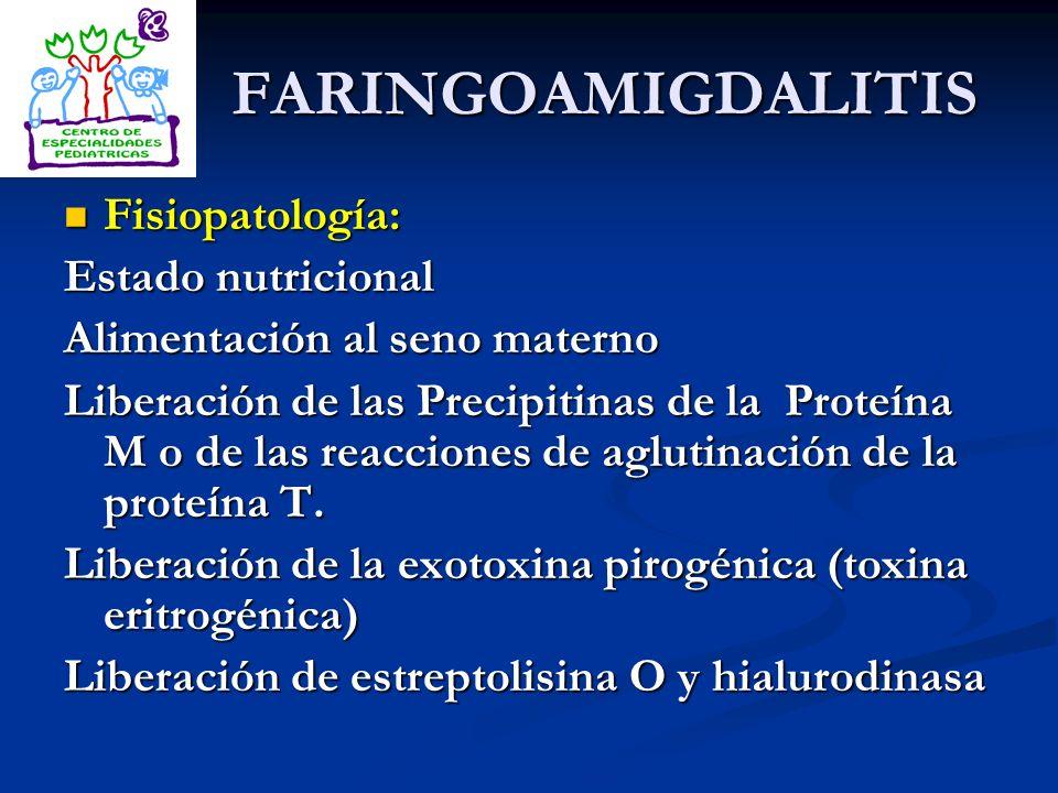 FARINGOAMIGDALITIS Fisiopatología: Estado nutricional