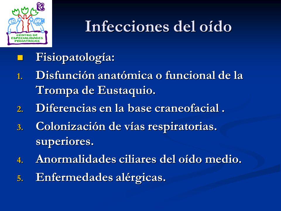 Infecciones del oído Fisiopatología: