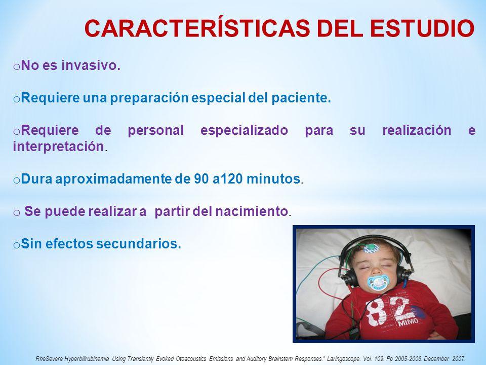 CARACTERÍSTICAS DEL ESTUDIO