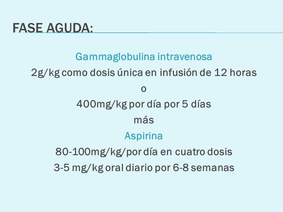 FASE AGUDA: Gammaglobulina intravenosa