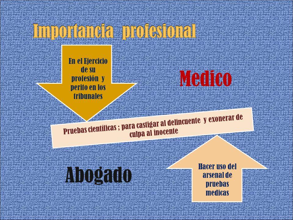 Importancia profesional