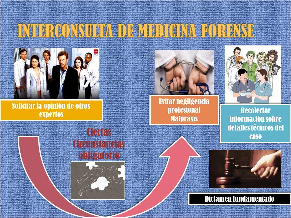 INTERCONSULTA DE MEDICINA FORENSE