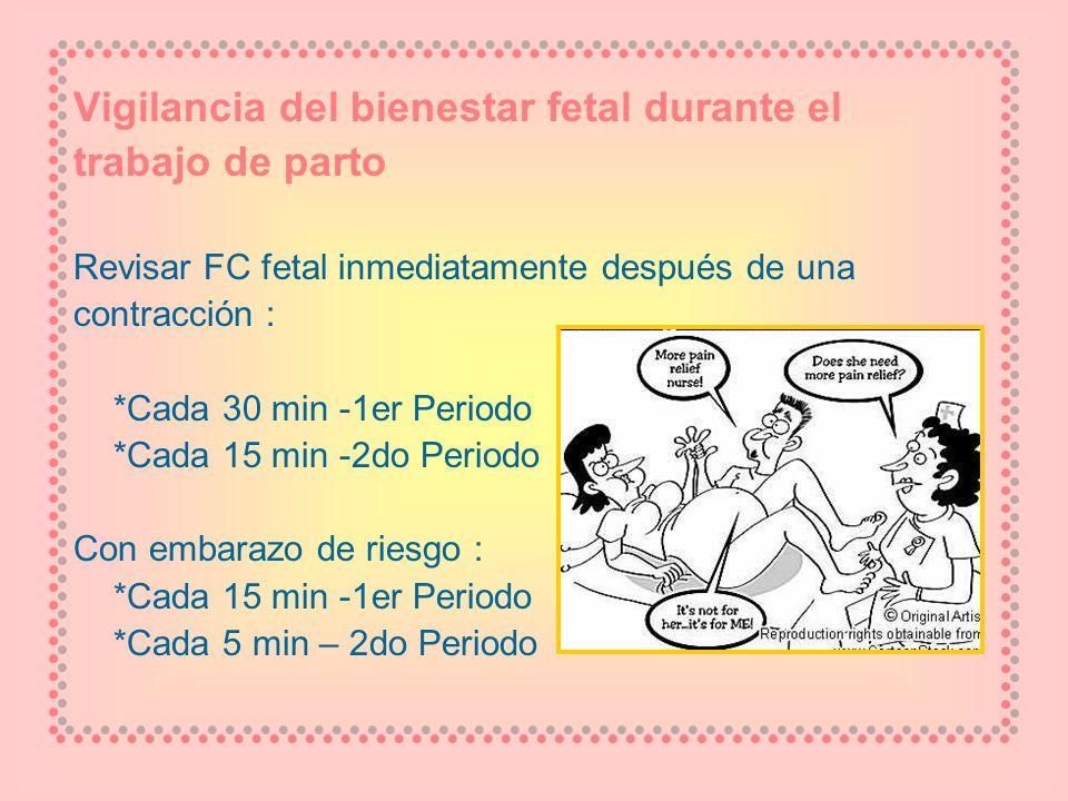 Vigilancia del bienestar fetal durante el trabajo de parto