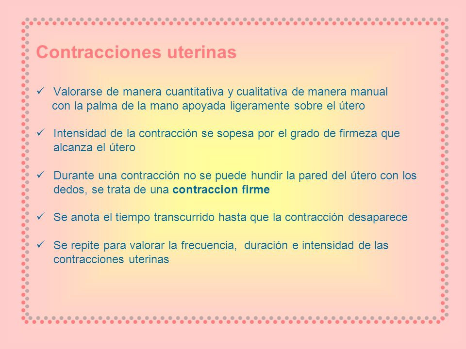 Contracciones uterinas