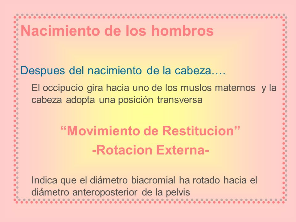 Movimiento de Restitucion