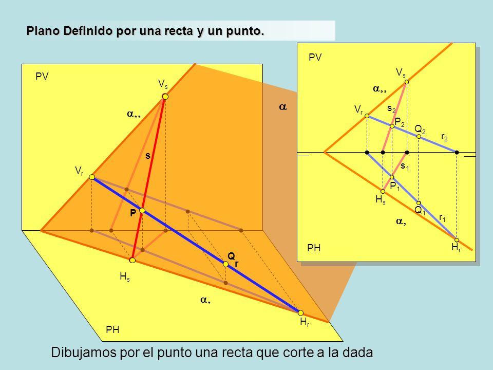 a,, a,, a, a, Dibujamos por el punto una recta que corte a la dada