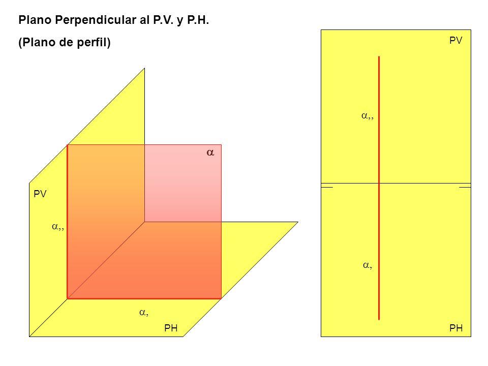 a,, a,, a, a, Plano Perpendicular al P.V. y P.H. (Plano de perfil) a