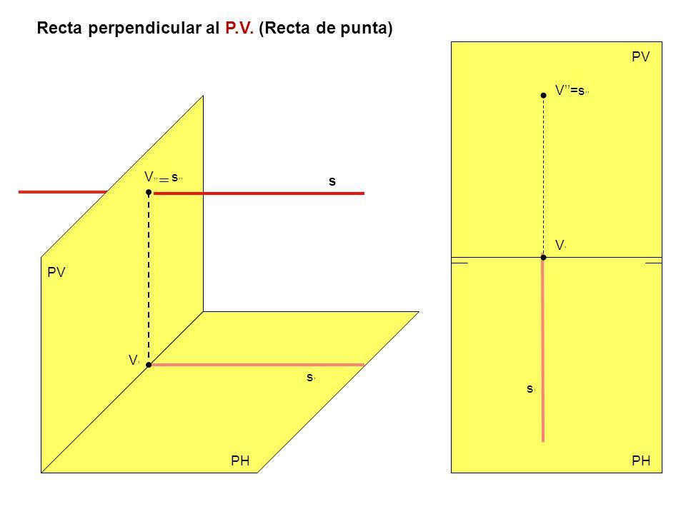 Recta perpendicular al P.V. (Recta de punta)