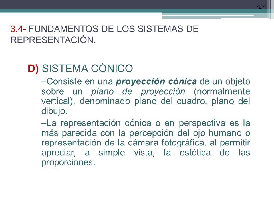 3.4- FUNDAMENTOS DE LOS SISTEMAS DE REPRESENTACIÓN.
