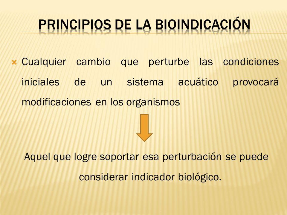 PRINCIPIOS DE LA BIOINDICACIÓN