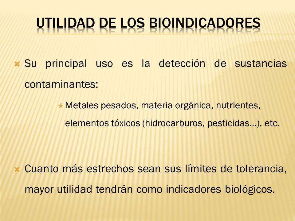 UTILIDAD DE LOS BIOINDICADORES