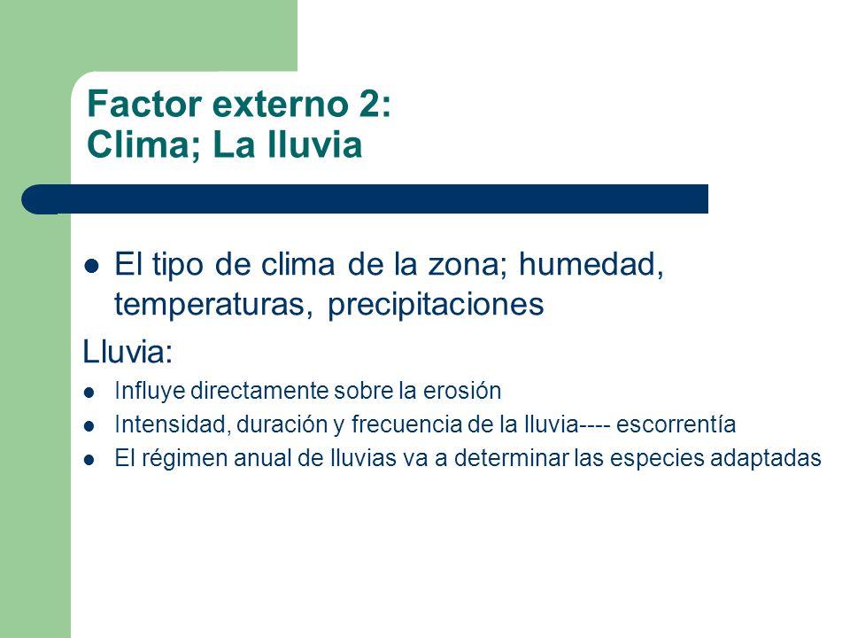 Factor externo 2: Clima; La lluvia