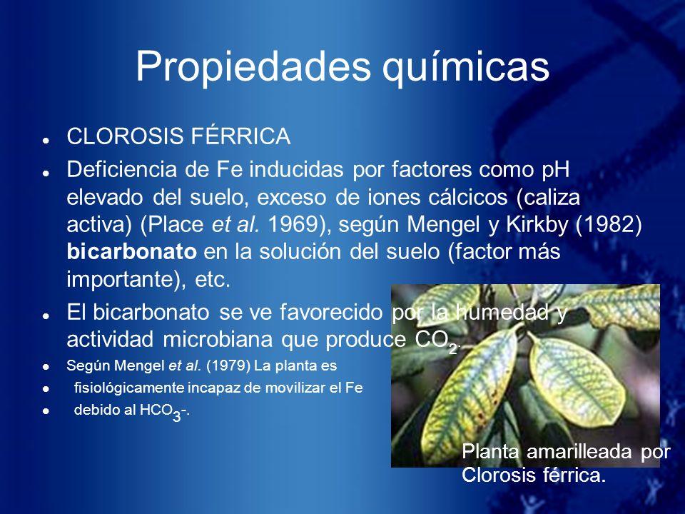 Propiedades químicas CLOROSIS FÉRRICA
