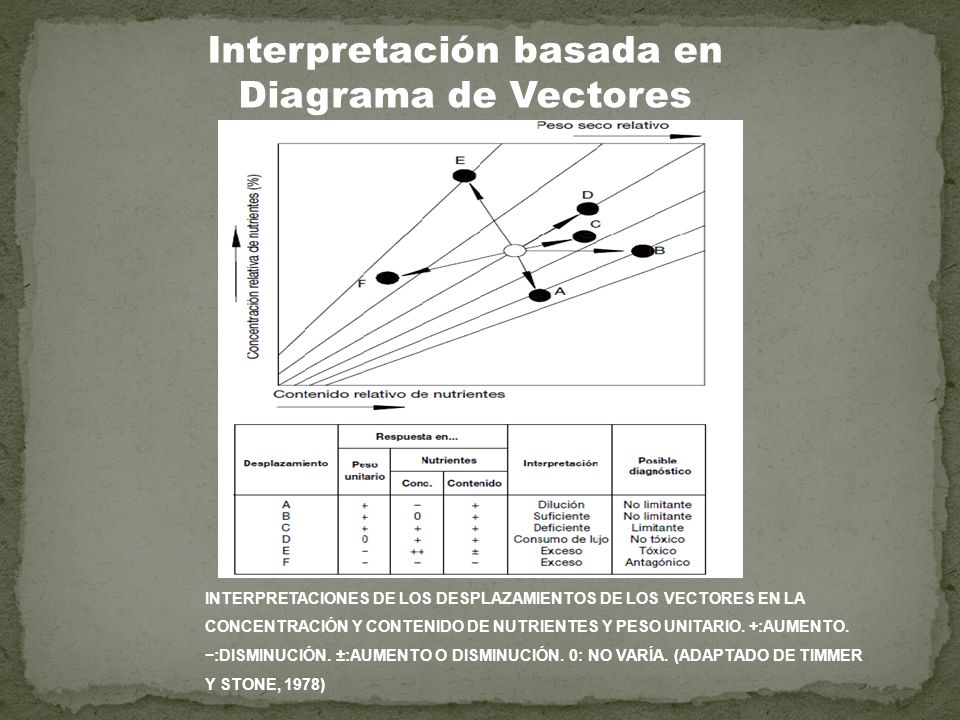 Interpretación basada en Diagrama de Vectores