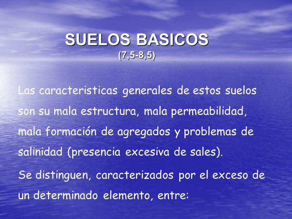 SUELOS BASICOS (7,5-8,5)