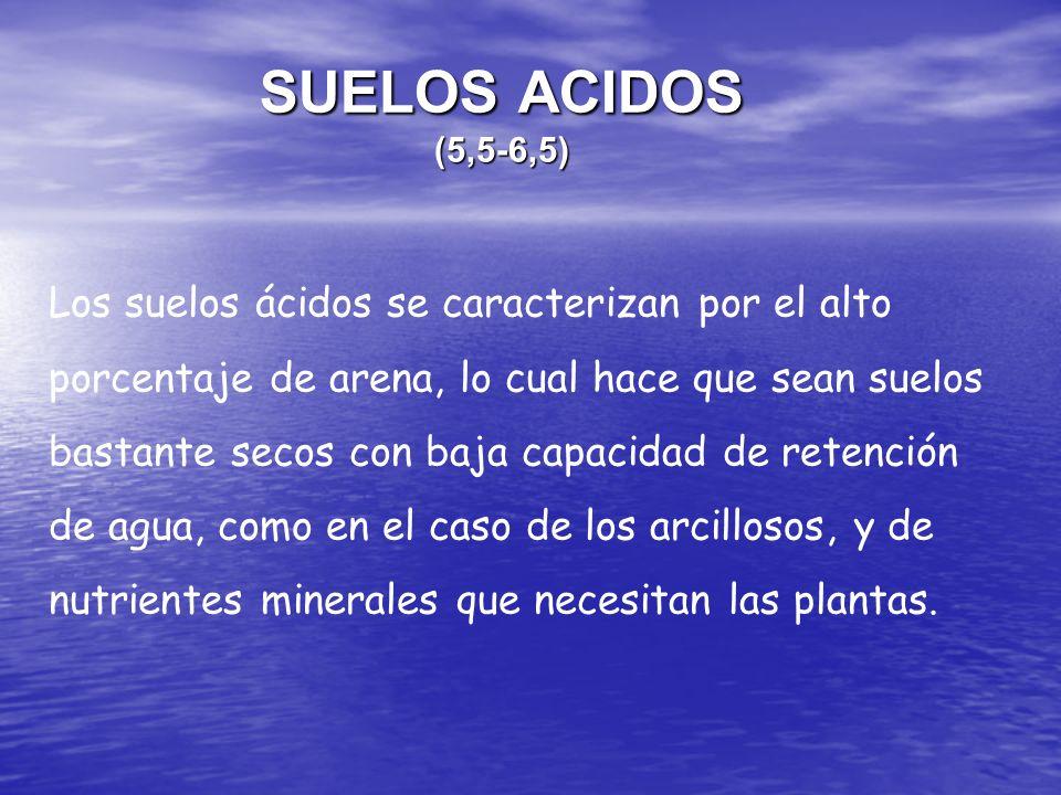 SUELOS ACIDOS (5,5-6,5)