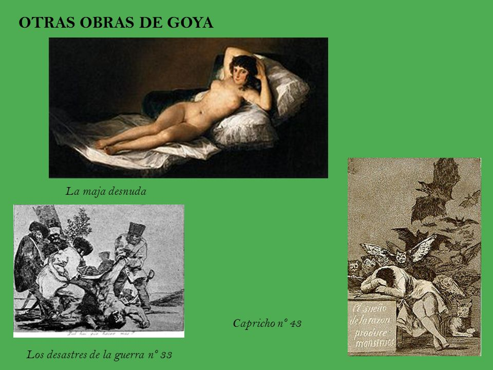OTRAS OBRAS DE GOYA La maja desnuda Capricho nº 43