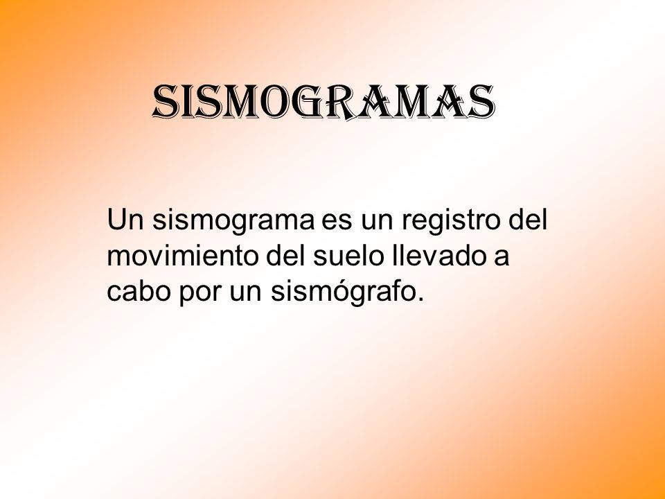 SISMOGRAMAS Un sismograma es un registro del movimiento del suelo llevado a cabo por un sismógrafo.
